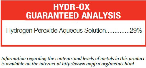 Hydr-Ox Guaranteed Analysis