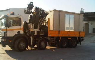 Transporte de una caseta de Hormigón prefabricada de 400x200x220
