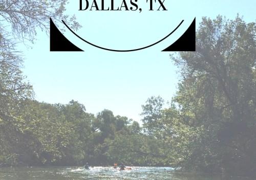 Kayaking White Rock Creek in Dallas, TX