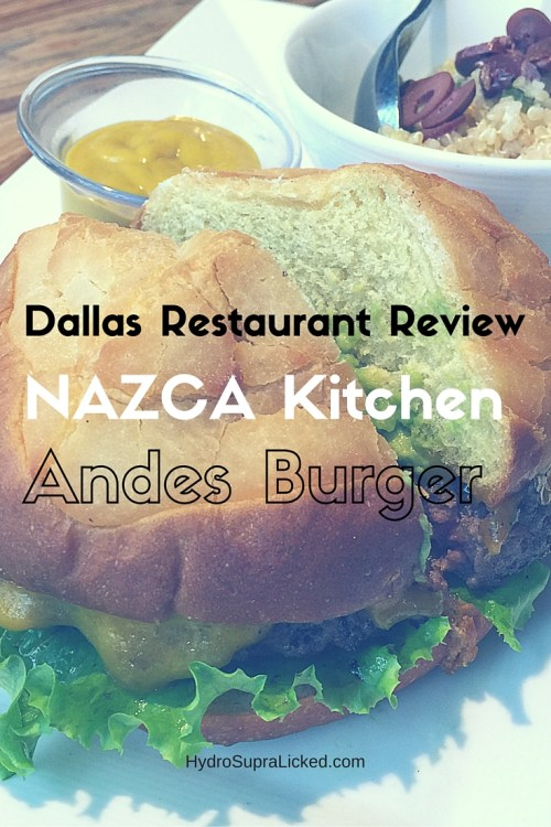 NAZCA Kitchen Andes Burger