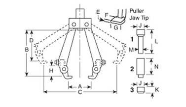 Hydrotools, Hydrotools, Universal Pullers: 100 Ton
