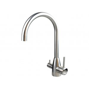 3 Three Way Mixer Tap Hot Cold & Pure 304 Stainless Steel