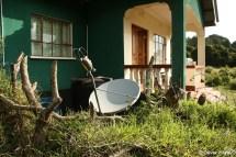 Internet access via satellite dish