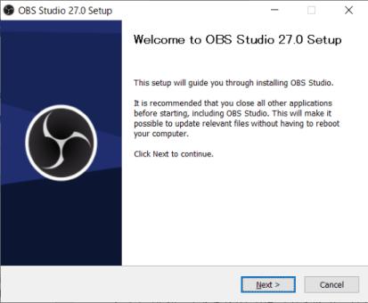 インストールファイルを実行したときの画面