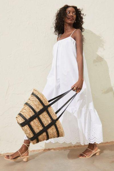 H&M Summer Maxi Dress White