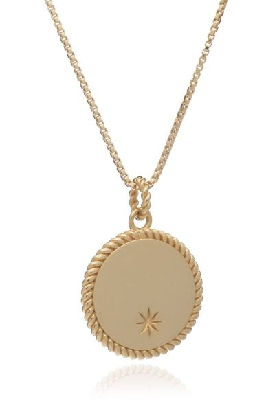 Personalised Gold Coin Necklace