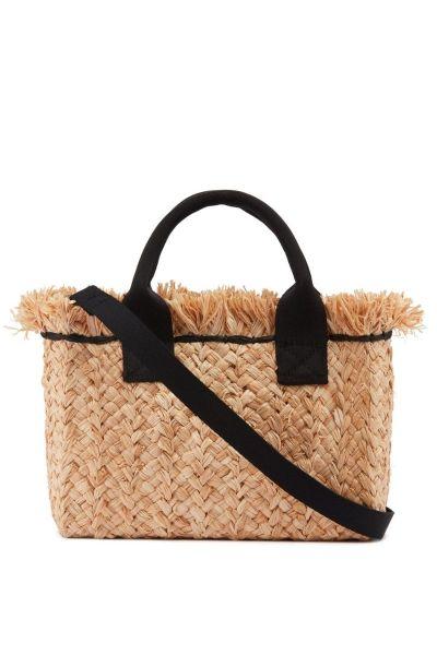 Jigsaw Straw Fashion Bag