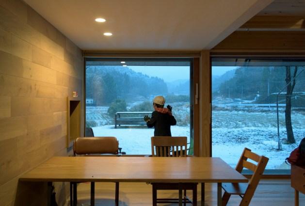 2018年1月10日の雪_シンケンスタイルの木の家