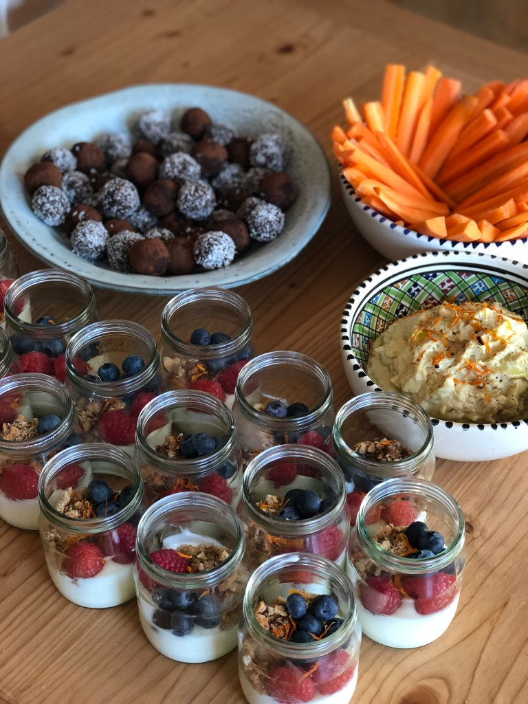 Food at the yoga events