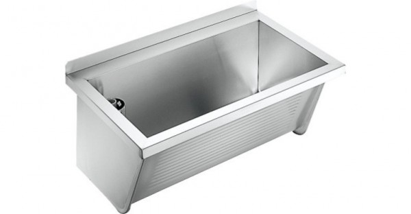 utility sink ca210 2 by franke made of stainless steel for wall mounting