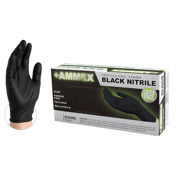 Exam Nitrile Gloves - Black