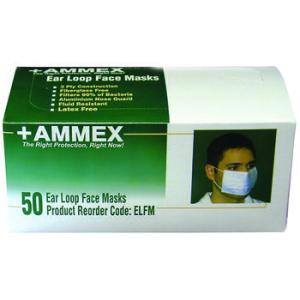 AMMEX Ear Loop Face Masks