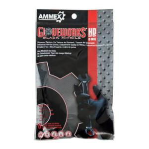 Gloveworks Black Nitrile Latex Free Disposable Gloves (Case of 25 Packs) - Uni