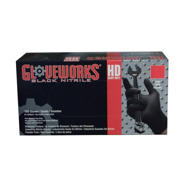 Gloveworks HD Black Nitrile Gloves