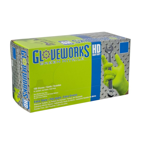 HD Green Nitrile Gloves