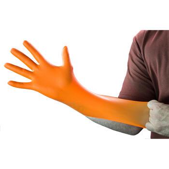 HD Orange Nitrile Gloves