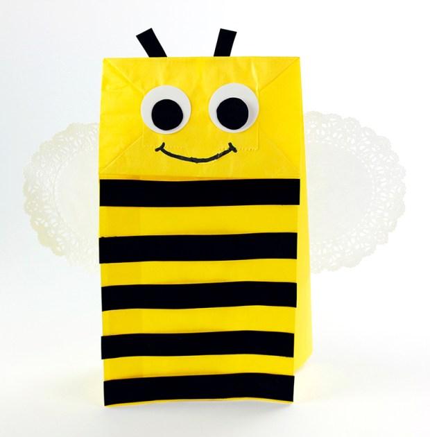 Bumble Bee Paper Bag Hand Puppet Hygloss Craft Blog