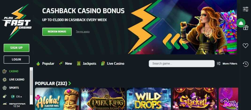 Playfast Casino Review: Buckle Up & Play Fast! 140% Up to €1,500 Bonus