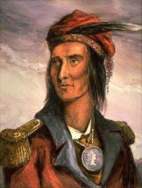 Chief Tecumseh (portrait by Benson John Lossing)