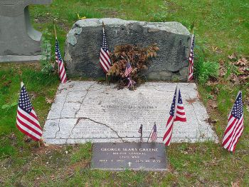 George S. Greene gravesite, Warwick, Rhode Island (photo by Hal Jespersen, June 2008).