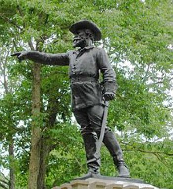 Monument to Gen. Greene on Culp's Hill, Gettysburg National Military Park, Pennsylvania