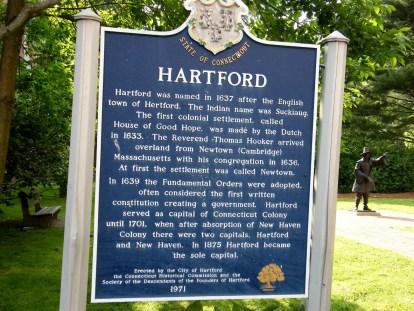 Historical marker - Hartford, Connecticut