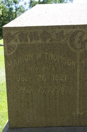 Marion Wallace Thomson (1821-1896), my paternal 3rd g-grandmother