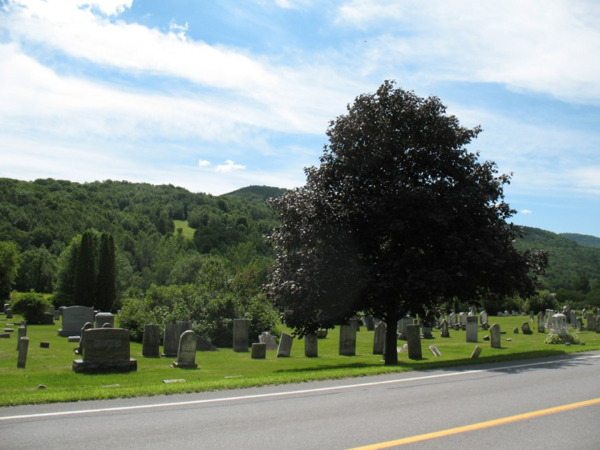 North Rupert Cemetery in Bennington County, Vermont - final resting place of Loren Hamlin and his wife Lydia (Baker)