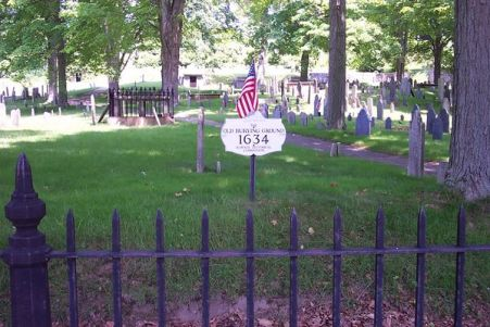 Old North Burying Ground in Ipswich, Massachusetts - the town's oldest cemetery