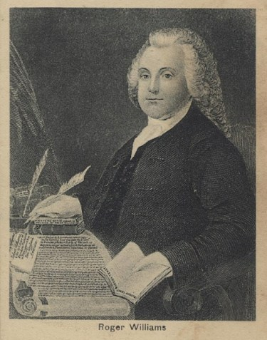No portrait of Roger Williams exists, but here is how an artist depicted him in an etching based on contemporary descriptions.