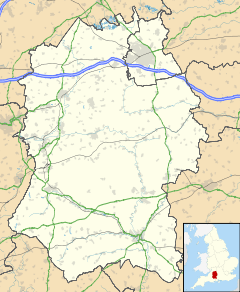 Wiltshire, on the map of England