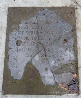 Graves of William Greene (1653-1680) - Easton Lot, Middletown, Rhode Island (photo credit: MRC)
