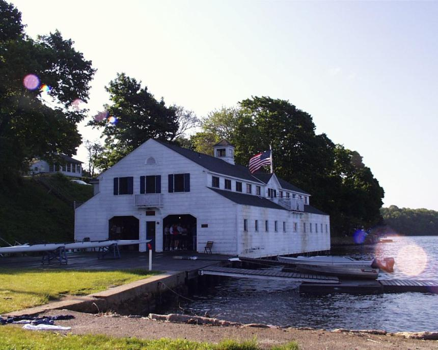 """The boathouse at """"Gale's Ferry"""" in Ledyard, Connecticut (Yale University Crew Team training center)"""
