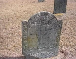 John Hallett's grave marker (Ancient Cemetery, Yarmouth, Massachusetts)