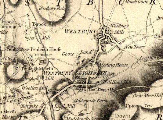 From Andrews' and Dury's Map of Wiltshire, 1773 (Wiltshire & Swindon History Centre, Chippenham)