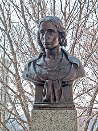 Harriet Beecher Stowe - Bust by Brenda Putnam at the Hall of Fame for Great Americans in New York City