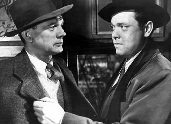 "Orson Welles (right) as Harry Lime in ""The Third Man"" (1949)"
