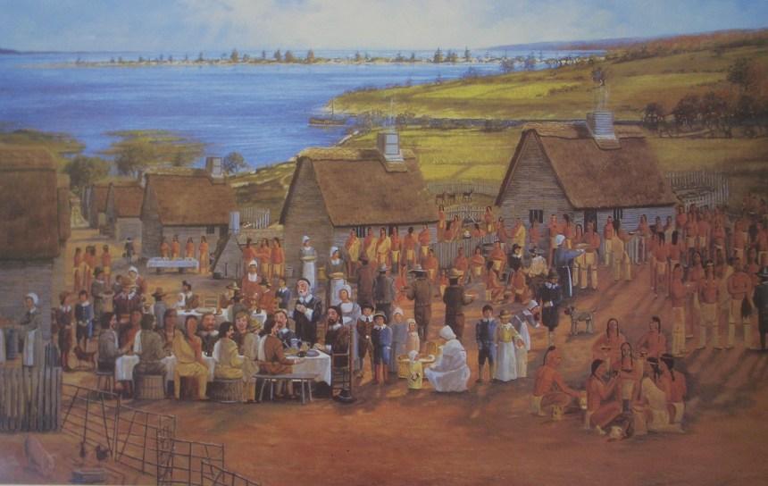 The First Thanksgiving, 1621 (Karen Rinaldo, 1995)