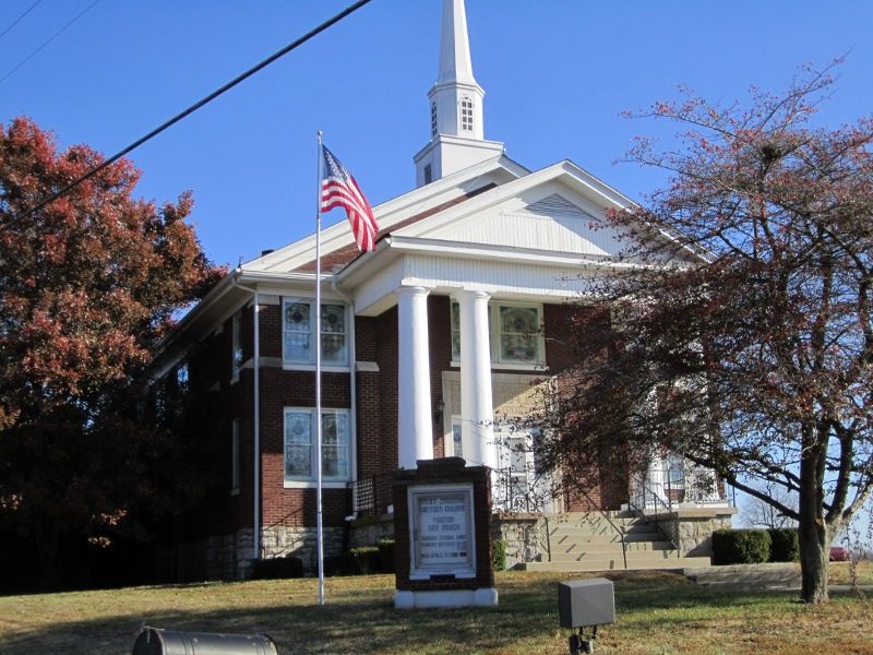 The Baptist Church at Great Crossings, Kentucky is still in existence and is one of the oldest churches of Central Kentucky. The present structure was dedicated in 1925.