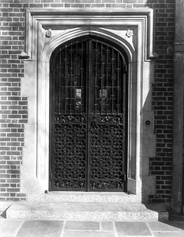 Terrace porch entrance door