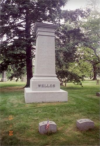 Welles Family marker (Cedar Hill Cemetery, Hartford, Connecticut)