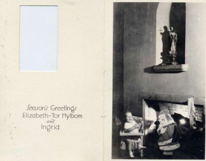 Hylbom Christmas card 1934