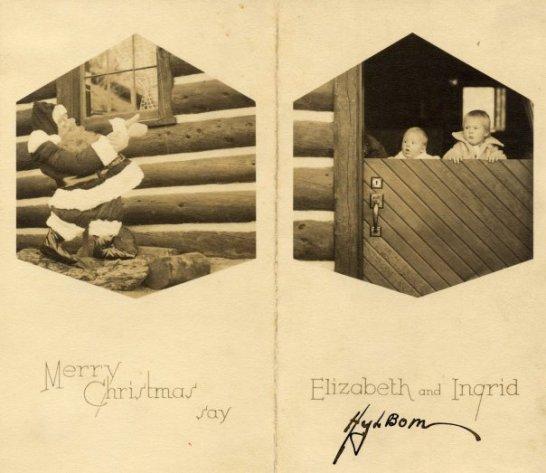Hylbom Christmas card 1935