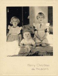 Hylbom Christmas card 1939