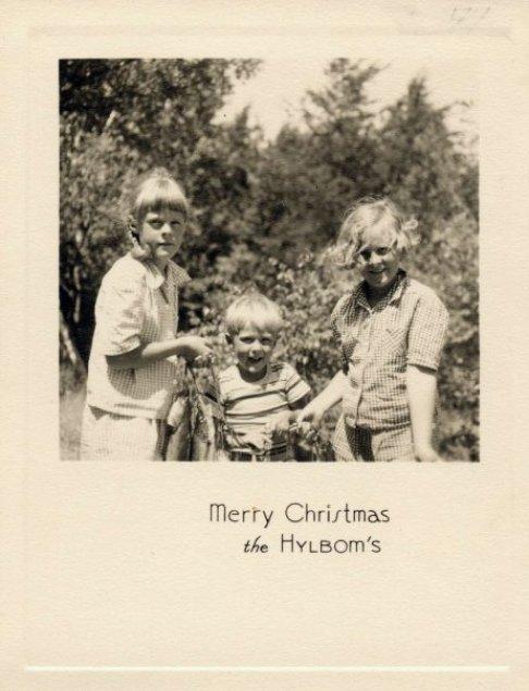 Hylbom Christmas card 1944