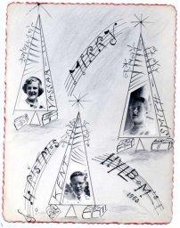 Hylbom Christmas card 1953