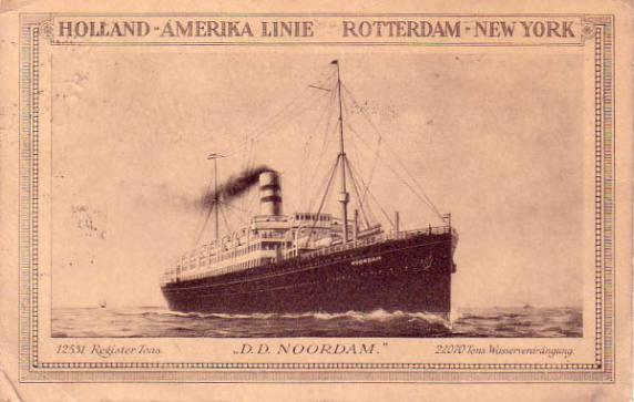 Noordam, later known as S.S. Kungsholm (SAL)