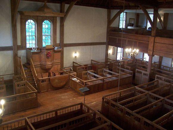 Old Ship Church, Hingham, Massachusetts (interior)