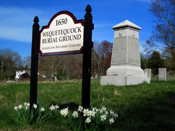 Monument to the Founders of Stonington - Wequeteduock Burial Ground, Stonington, Connecticut