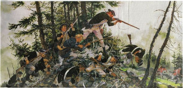 Charles H. Waterhouse's painting of The Battle of Penobscot